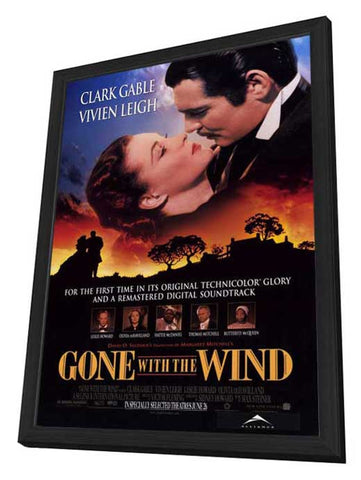 Gone With The Wind 27 x 40 Movie Poster - Style A - in Deluxe Wood Frame
