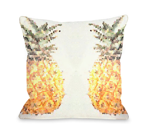 Pineapple Half Throw Pillow by OBC 18 X 18
