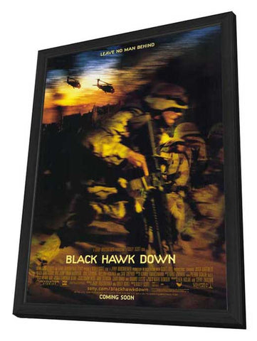 Black Hawk Down 27 x 40 Movie Poster - Style B - in Deluxe Wood Frame