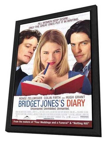 Bridget Jones's Diary 27 x 40 Movie Poster - Style B - in Deluxe Wood Frame