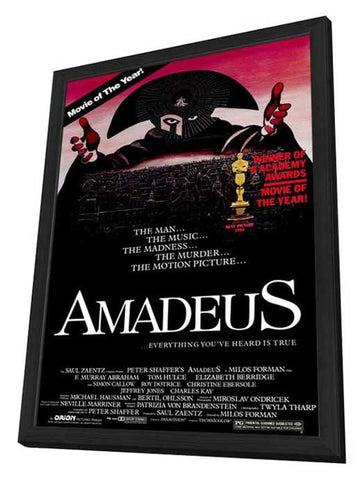 Amadeus 27 x 40 Movie Poster - Style B - in Deluxe Wood Frame