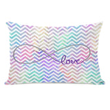 Infinite Love Mix & Match Watercolor Chevron Lumbar Pillow by OBC 14 X 20