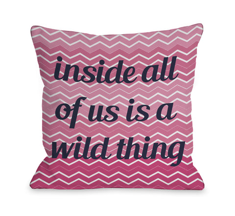A Wild Thing Chevron Throw Pillow by OBC 18 X 18