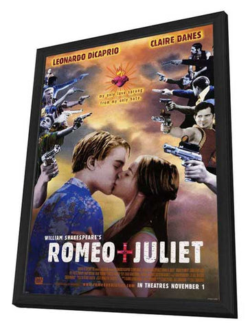 William Shakespeare's Romeo & Juliet 27 x 40 Movie Poster - Style C - in Deluxe Wood Frame