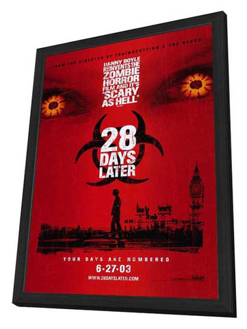 28 Days Later 27 x 40 Movie Poster - Style B - in Deluxe Wood Frame