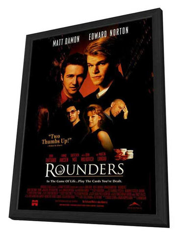 Rounders 27 x 40 Movie Poster - Style B - in Deluxe Wood Frame