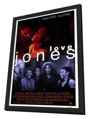 Love Jones 27 x 40 Movie Poster - Style B - in Deluxe Wood Frame