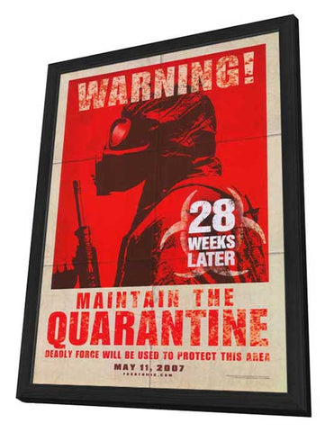 28 Weeks Later 27 x 40 Movie Poster - Style B - in Deluxe Wood Frame