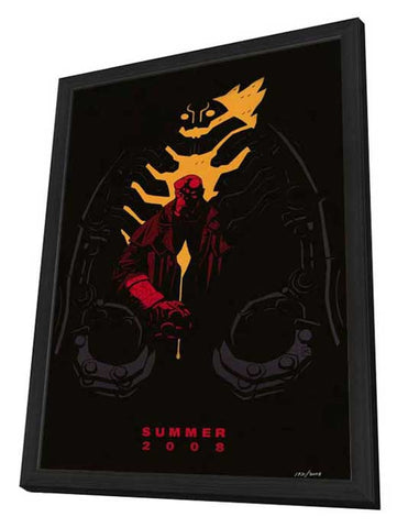 Hellboy 2: The Golden Army 27 x 40 Movie Poster - Style A - in Deluxe Wood Frame