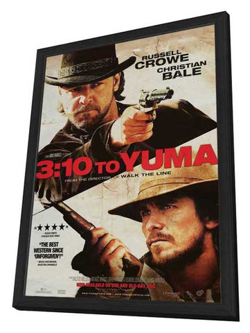 3:10 to Yuma 27 x 40 Movie Poster - Style D - in Deluxe Wood Frame