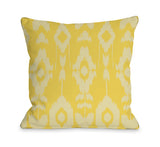 Forever Ikat - Lemon Zest Throw Pillow by OBC 18 X 18