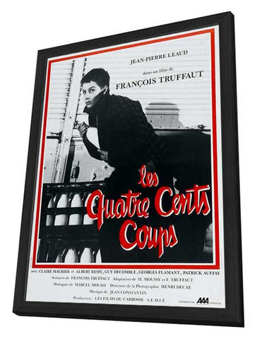 400 Blows 27 x 40 Movie Poster - French Style A - in Deluxe Wood Frame