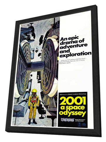 2001: A Space Odyssey 27 x 40 Movie Poster - Style E - in Deluxe Wood Frame