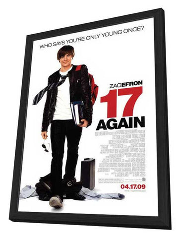 17 Again 27 x 40 Movie Poster - Style A - in Deluxe Wood Frame