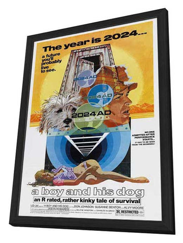 Boy and His Dog 27 x 40 Movie Poster - Style B - in Deluxe Wood Frame