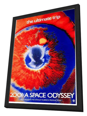 2001: A Space Odyssey 27 x 40 Movie Poster - Style L - in Deluxe Wood Frame