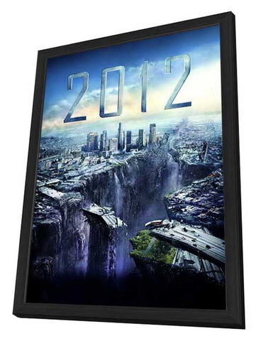 2012 27 x 40 Movie Poster - Style C - in Deluxe Wood Frame