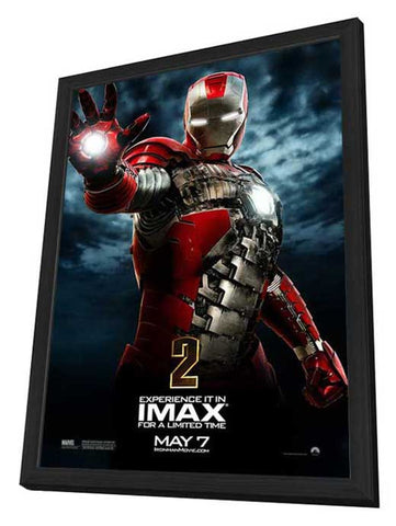 Iron Man 2 27 x 40 Movie Poster - Style L - in Deluxe Wood Frame