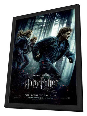 Harry Potter and the Deathly Hallows: Part I 27 x 40 Movie Poster - Style C - in Deluxe Wood Frame