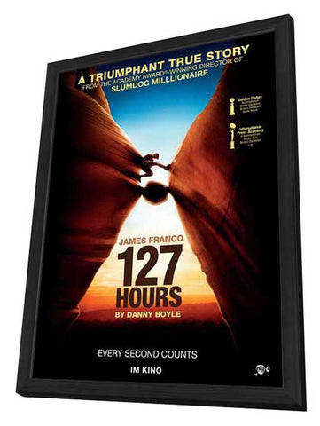 127 Hours 27 x 40 Movie Poster - Swiss Style A - in Deluxe Wood Frame