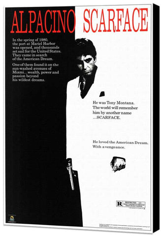 Scarface 11 x 17 Movie Poster - Style B - Museum Wrapped Canvas