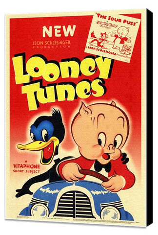 Looney Tunes 11 x 17 Movie Poster - Style A - Museum Wrapped Canvas