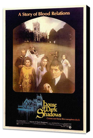 House of Dark Shadows 11 x 17 Movie Poster - Style A - Museum Wrapped Canvas