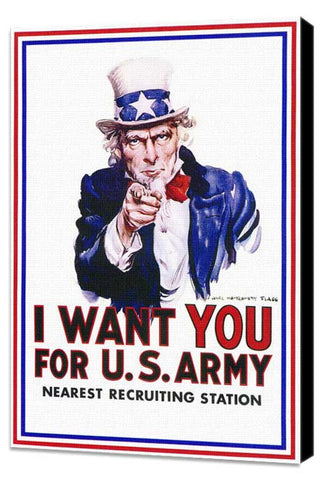 I Want You for U.S. Army 11 x 17 Movie Poster - Style A - Museum Wrapped Canvas