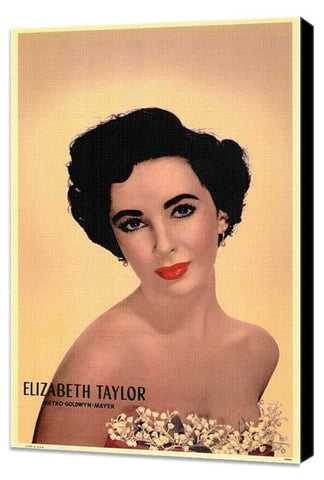 Elizabeth Taylor 11 x 17 Movie Poster - Style A - Museum Wrapped Canvas