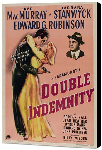Double Indemnity 11 x 17 Movie Poster - Style A - Museum Wrapped Canvas