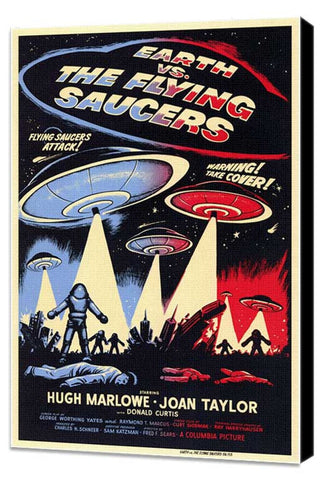 Earth vs. the Flying Saucers 11 x 17 Movie Poster - Style A - Museum Wrapped Canvas