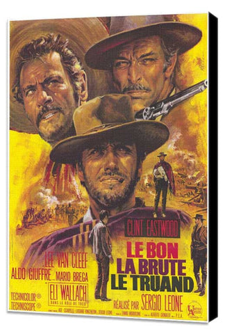 The Good, The Bad and The Ugly 11 x 17 Movie Poster - French Style A - Museum Wrapped Canvas