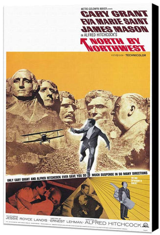 North By Northwest 11 x 17 Movie Poster - Style B - Museum Wrapped Canvas
