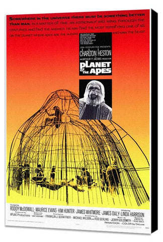 Planet of the Apes 11 x 17 Movie Poster - Style A - Museum Wrapped Canvas