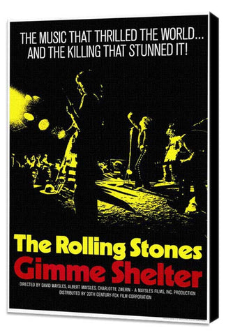 Gimme Shelter - Rolling Stones 11 x 17 Movie Poster - Style A - Museum Wrapped Canvas