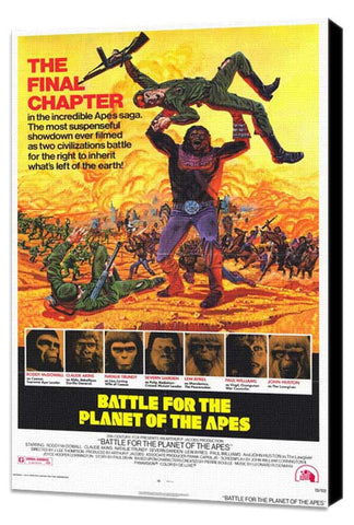 Battle for the Planet of the Apes 11 x 17 Movie Poster - Style A - Museum Wrapped Canvas