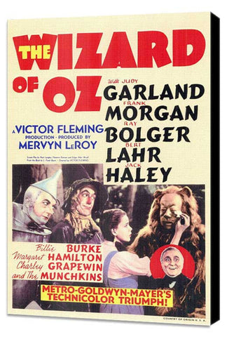 The Wizard of Oz 11 x 17 Movie Poster - Style B - Museum Wrapped Canvas
