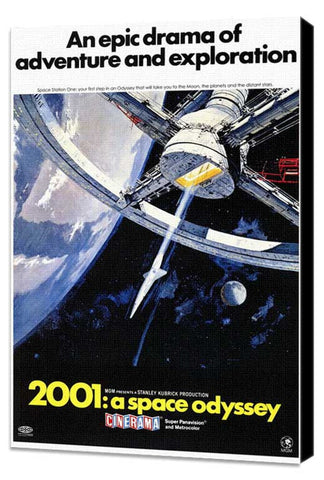 2001: A Space Odyssey 11 x 17 Movie Poster - Style C - Museum Wrapped Canvas