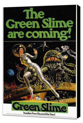 Green Slime 11 x 17 Movie Poster - Style A - Museum Wrapped Canvas