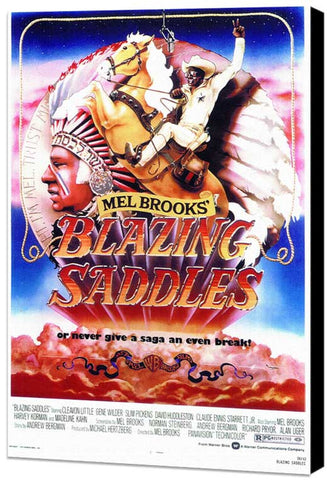 Blazing Saddles 11 x 17 Movie Poster - Style C - Museum Wrapped Canvas