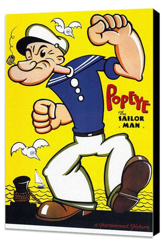 Popeye 11 x 17 Movie Poster - Style A - Museum Wrapped Canvas