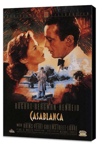 Casablanca 11 x 17 Movie Poster - Style S - Museum Wrapped Canvas