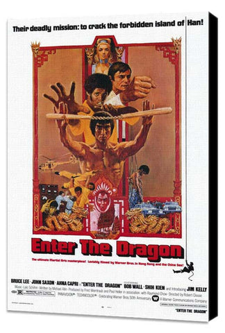 Enter the Dragon 11 x 17 Movie Poster - Style A - Museum Wrapped Canvas