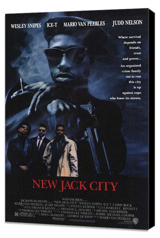 New Jack City 11 x 17 Movie Poster - Style A - Museum Wrapped Canvas