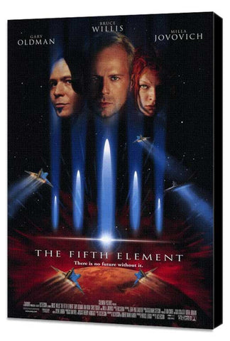 The Fifth Element 11 x 17 Movie Poster - Style A - Museum Wrapped Canvas