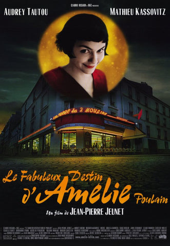 Amelie 11 x 17 Movie Poster - Style B - Museum Wrapped Canvas