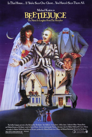 Beetlejuice 11 x 17 Movie Poster - Style A - Museum Wrapped Canvas