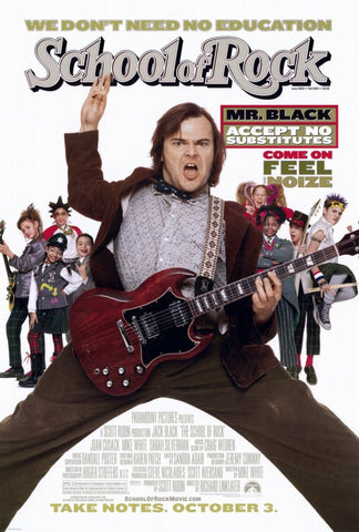 The School of Rock 11 x 17 Movie Poster - Style A - Museum Wrapped Canvas