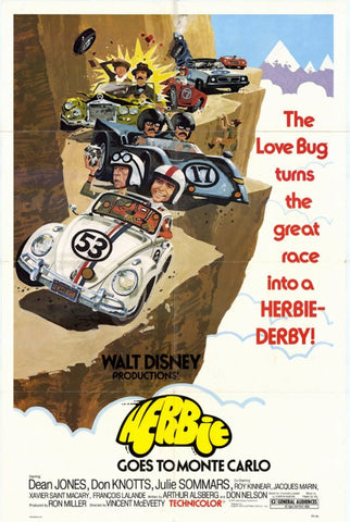Herbie Goes to Monte Carlo 11 x 17 Movie Poster - Style A - Museum Wrapped Canvas