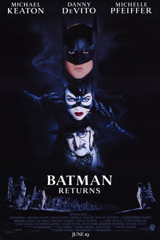 Batman Returns 11 x 17 Movie Poster - Style A - Museum Wrapped Canvas